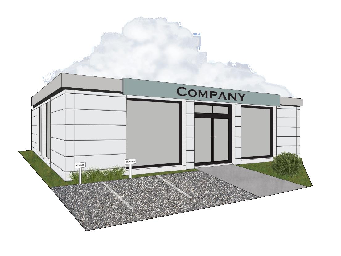 Container Individual Geschäfts- und Bürohäuser