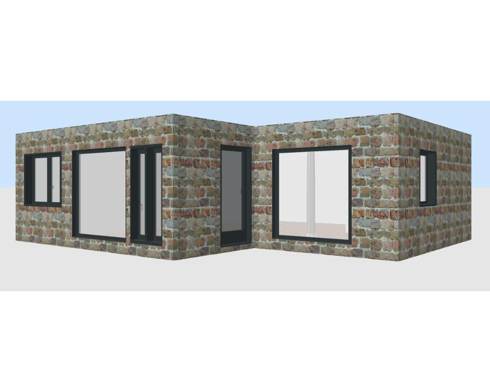 Container Individual Geschäftshäuser modular